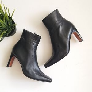 """Vintage  Leather 3"""" Ankle Boots Marcel Ronel"""